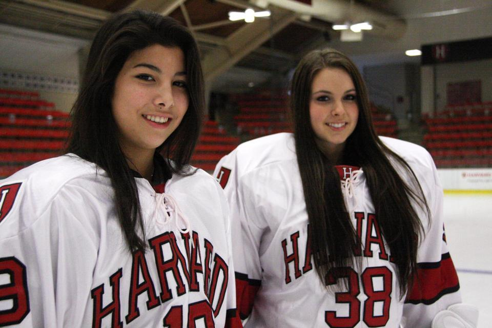 After competing against each other at the 2012 Women's World U-18 Championship, freshmen Miye D'Oench (left) and Emerance Maschmeyer are now teammates.