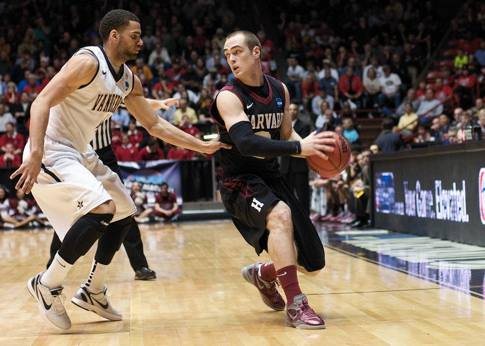 In the Harvard men's basketball team's first NCAA game in 66 years, sophomore wing Laurent Rivard scored a team-high 20 points in a 79-70 loss to Vanderbilt.