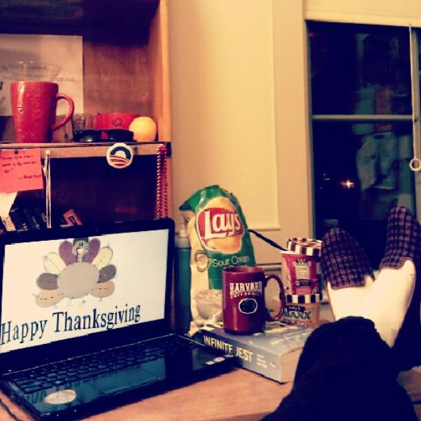 """""""Thanksgiving 2012 in Weld 25, home away from home.""""—Mai T. Nguyen '16"""