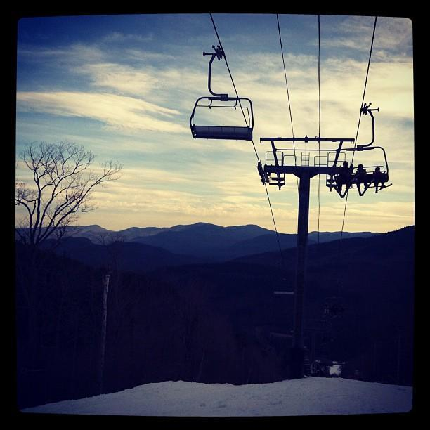 """""""Nothing like being back on snow.""""—Danielle L. Lussi '14, Crimson Photographer"""