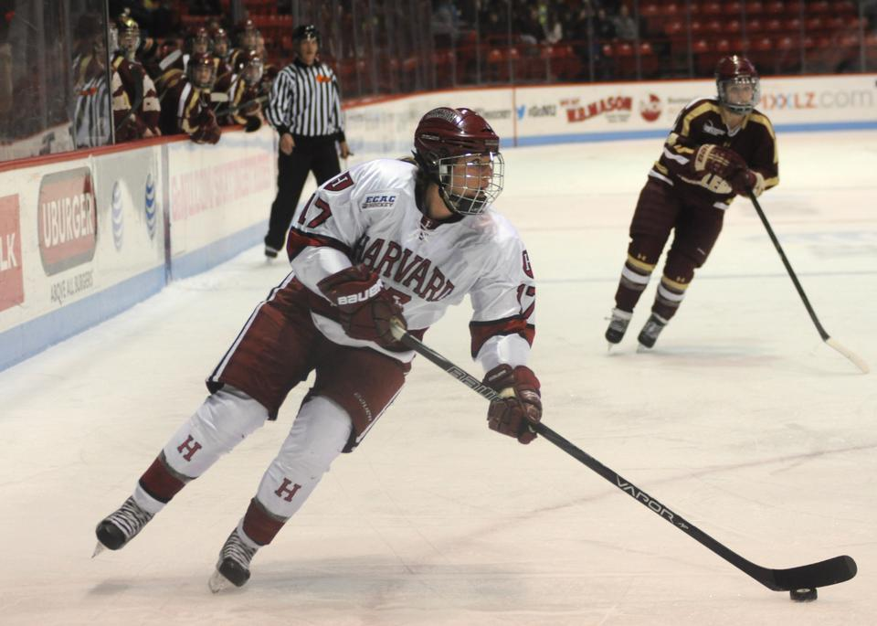 Senior Kaitlin Spurling tallied two goals and an assist in the Harvard women's hockey team's 5-2 victory over Colgate Saturday. Spurling and freshman Mary Parker both registered early goals to give the Crimson a 2-0 lead and help it bounce back from Friday's loss to Cornell.