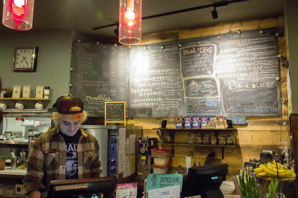Serving sandwiches, locally brewed beer, and ice cream, Refuge Cafe is one of the only locally owned cafes in Allston.