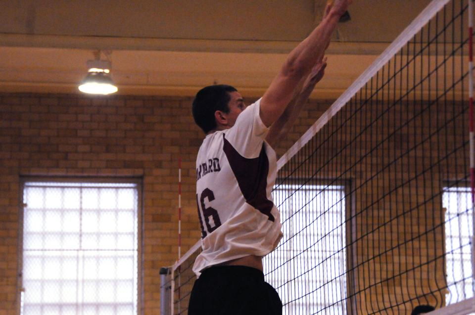 Co-captain Nick Madden, pictured above in earlier action, notched 11 and 13 kills against Penn State and St. Francis, respectively, over the weekend.