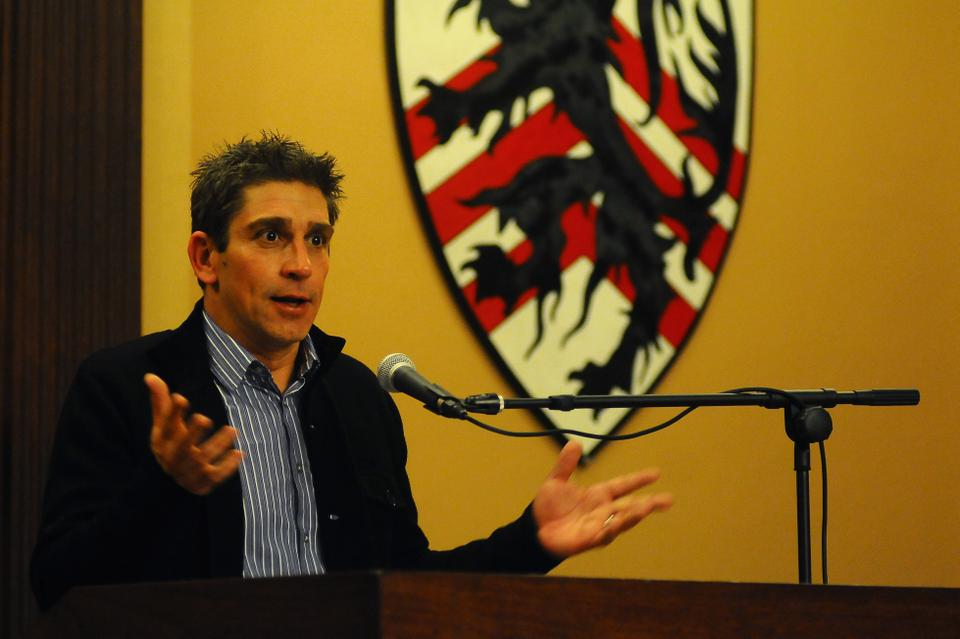 On Wednesday, Richard Blanco, the inauguaral poet for President Barack Obama's second term, spoke to an audience at the Winthrop House Junior Common Room about his writing and his evolving cultural identity as a member of the Cuban-American community.