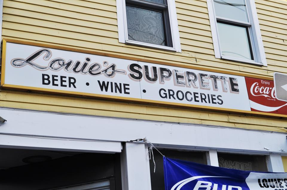 Louie's Superette does a brisk business selling beer and wine to undergraduates.