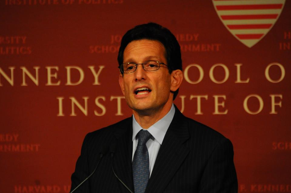 House Majority Leader Eric Cantor addressed the IOP's JFK Forum on Monday night.  His speech consisted of calls for increased education spending, but was interrupted when HIV/AIDS activists protested Cantor's decision not to fund a syringe exchange program.