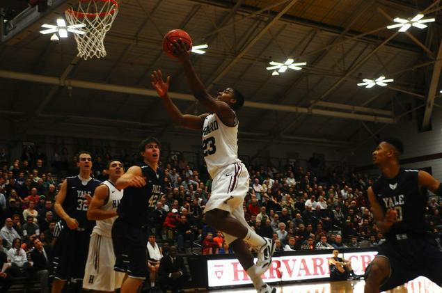 Wesley Saunders, pictured in earlier action, and his team will face off against the University of New Mexico in Salt Lake City on Thursday. The game will mark Harvard's second NCAA tournament appearance in the past two years.