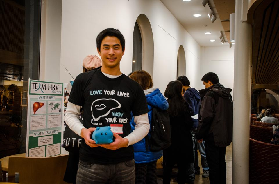 Team HBV Harvard are holding a week-long series of events to promote awareness of Hepatitis B.  Monday's event included the making and production of miniature viral plushies.