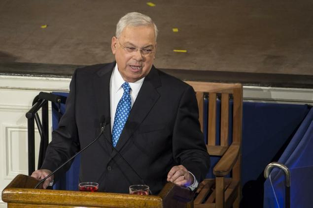 Longtime Boston Mayor Thomas M. Menino, pictured at the State of the City address in January, formally announced Thursday that he would not seek a sixth term in office.