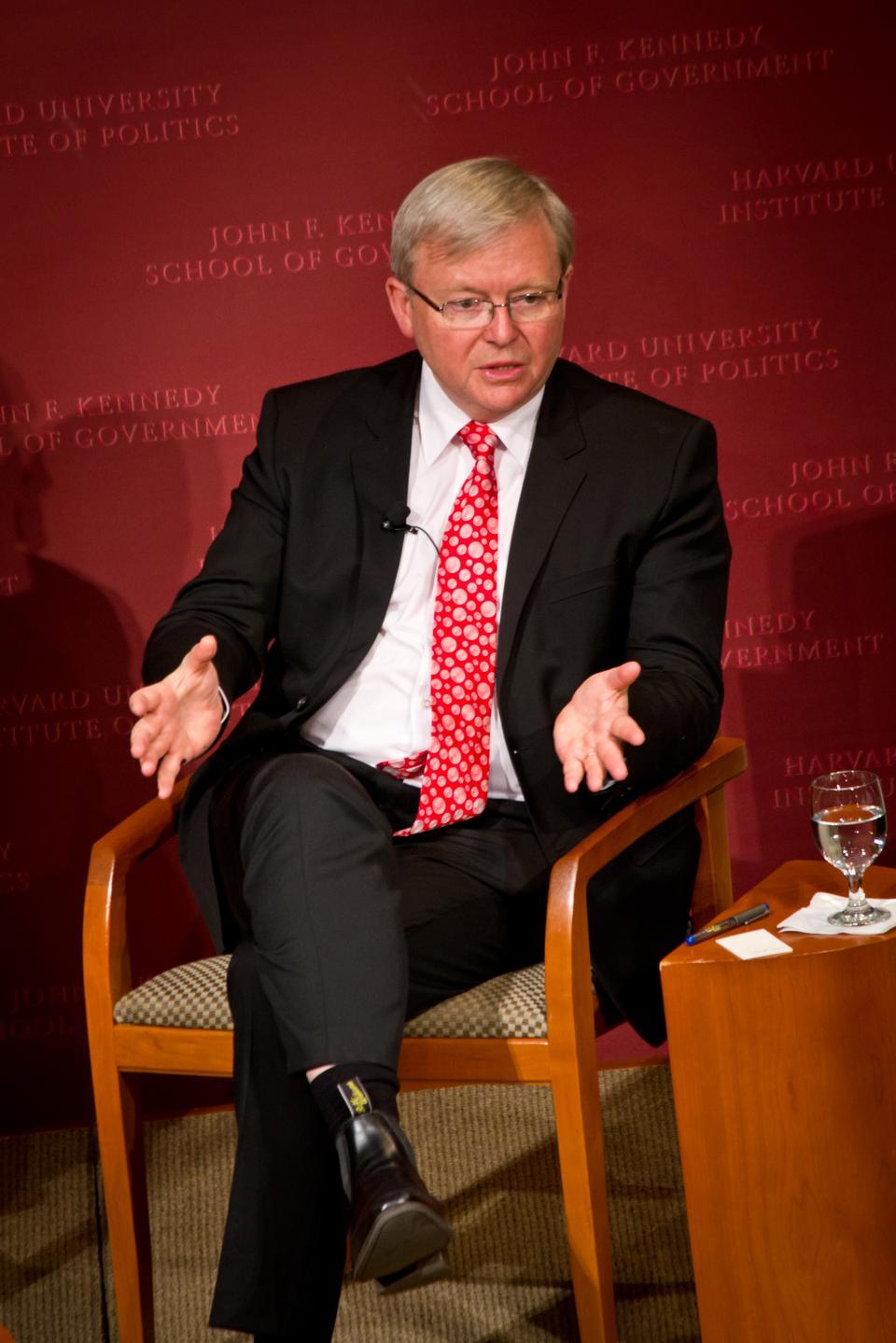 Australlian Prime Minister Kevin Rudd Speaks at IOP