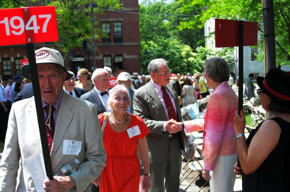 Harvard alumni process into Tercentenary Theater during the 2013 Commencement Exercises. The 2021 alumni reunions will be held virtually, Harvard Alumni Association announced Tuesday.