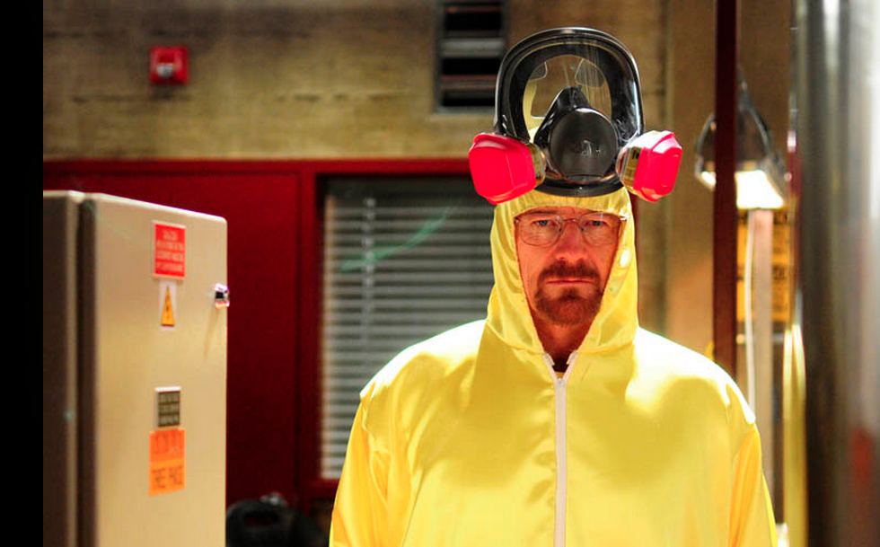 """Walter White (Bryan Cranston) in season three of AMC's """"Breaking Bad,"""" which concludes on Sunday."""