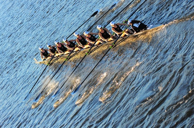 You will probably never in your life look so good doing anything as these rowers will at Head of the Charles.