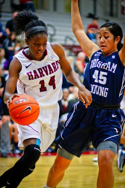 Junior forward Temi Fagbenle, seen here in earlier action, led Harvard with 21 points en route to a victory against Dartmouth in the Crimson's Ivy League opener.