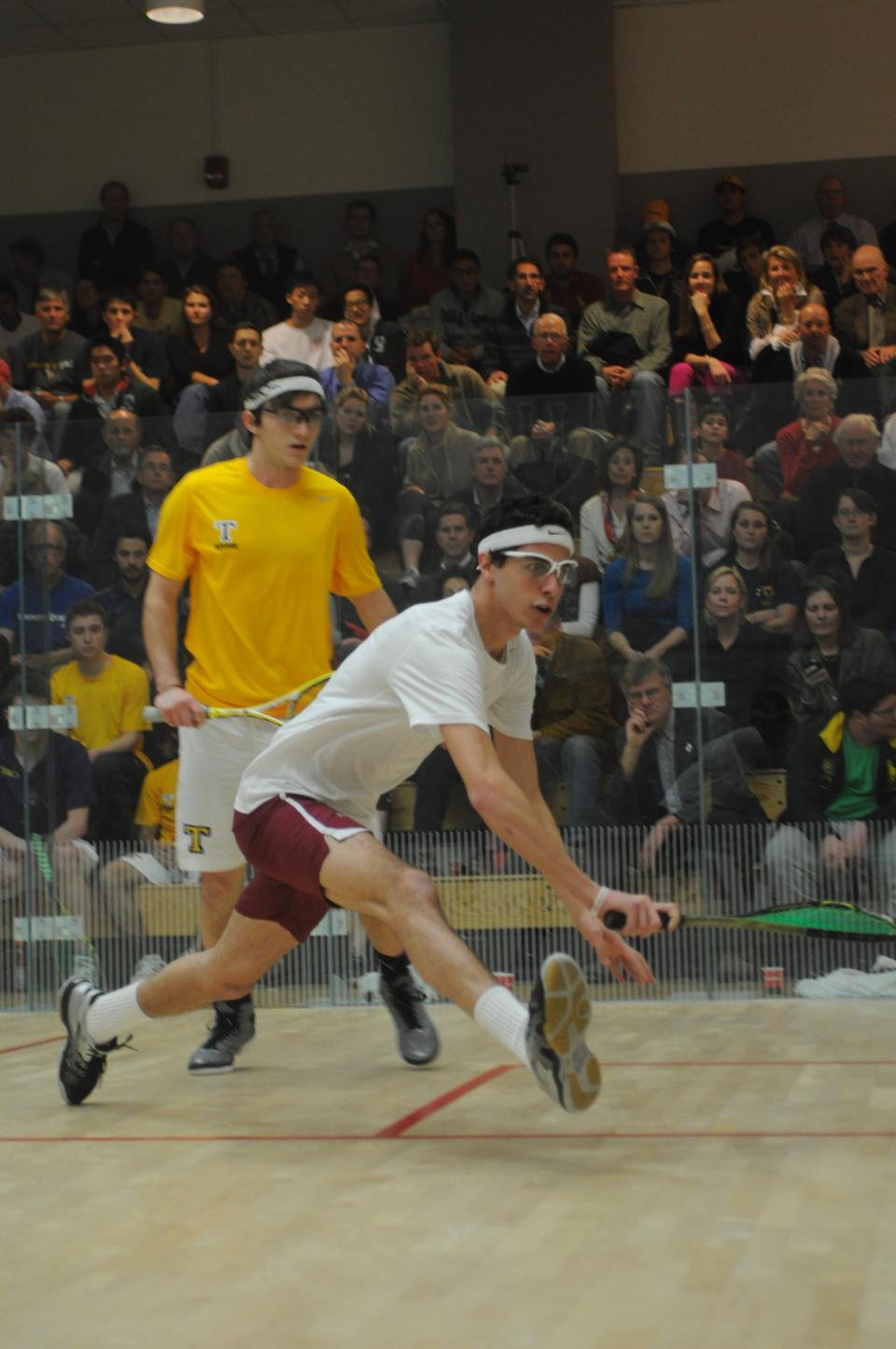 Senior Ali Farag, the 2012 CSA national champion, posted an 11-1, 11-5, 11-6 win in the Crimson's sweep of Penn.