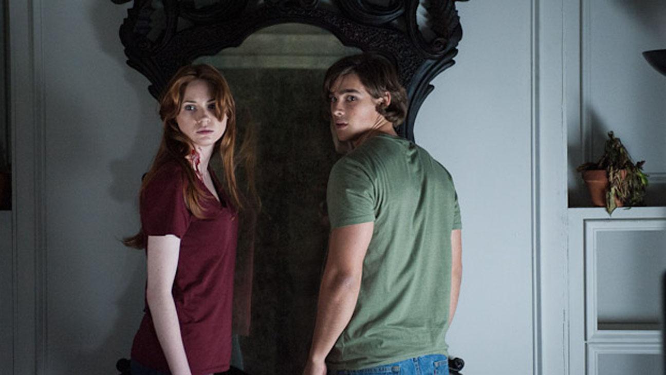 "Karen Gillan and Brenton Thwaites star in ""Oculus."""