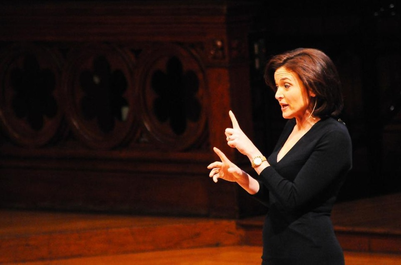 Sheryl Sandberg, Facebook COO and author of Lean In, talks about her experiences and her book in Sanders Theater on April 4, 2013.