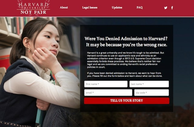 Harvard Not Fair