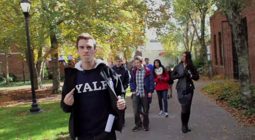 Sam Clark terrorizes Yale #yuckfale