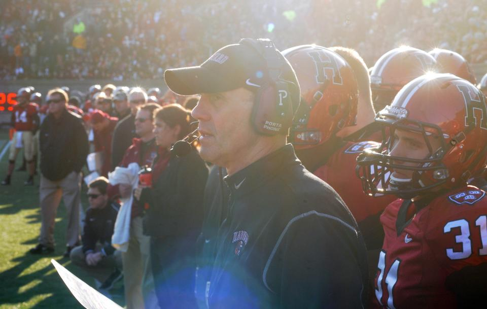 Harvard Head Football Coach Tim Murphy says he helps connect roughly two players a year with prep schools that will help them develop academically and athletically.