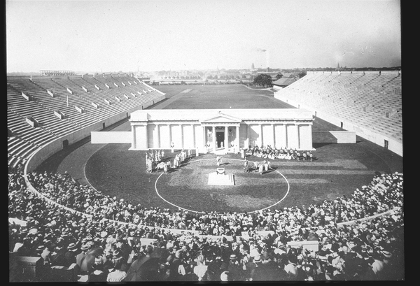 Harvard Stadium has stood for more than football, housing Vietnam protests and rock stars in the twentieth century.