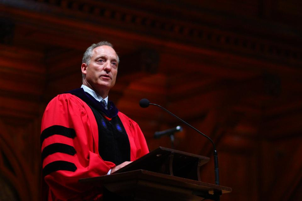 Michael D. Smith, Dean of the Faculty of Arts and Sciences, delivers the Faculty Address at the Class of 2016's Convocation Ceremony held in Sanders Theater.
