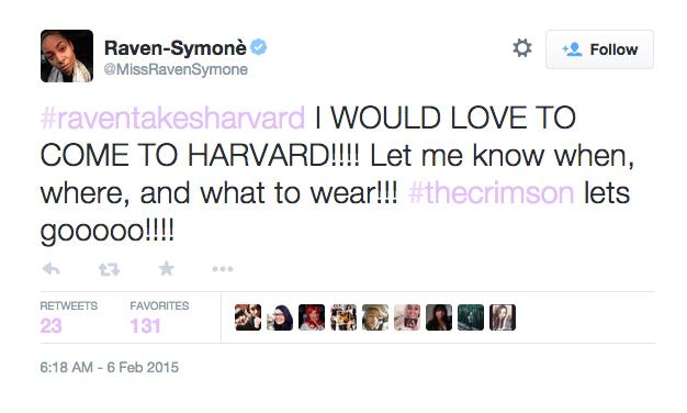 Raven's tweet