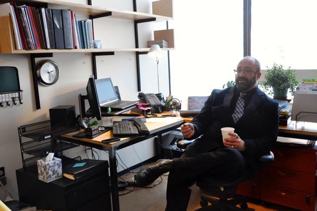 Glenn R. Magid discusses the advising resources at Harvard in his office at the Smith Campus Center.