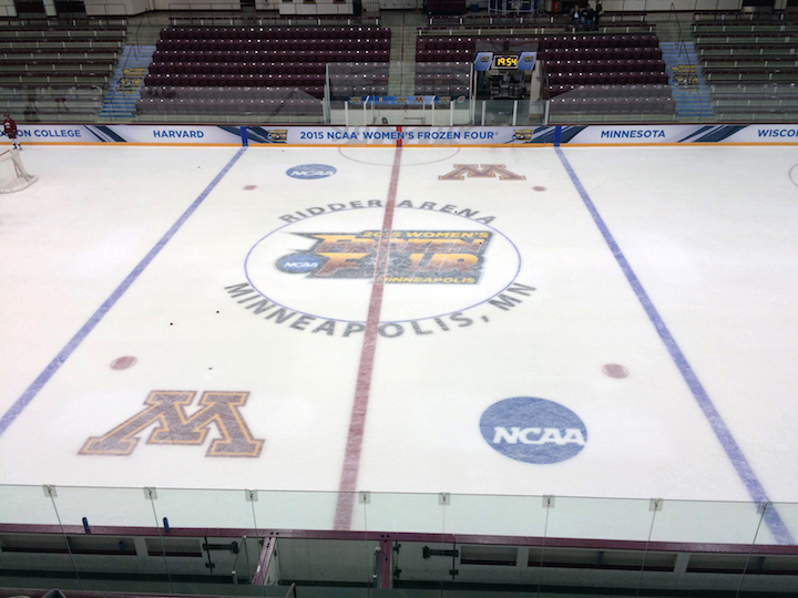The Harvard women's ice hockey team will take the ice Friday evening at 9 p.m. at Ridder Arena in Minneapolis.