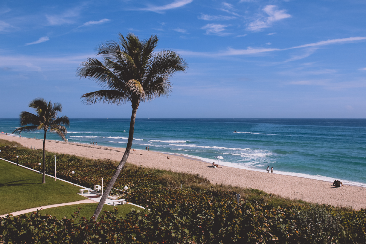 I started off spring break with a trip to Palm Beach, Florida with my friend. The hotel balcony overlooked the ocean, which was full of vacationers who were riding WaveRunners, paddle boarding, and swimming.