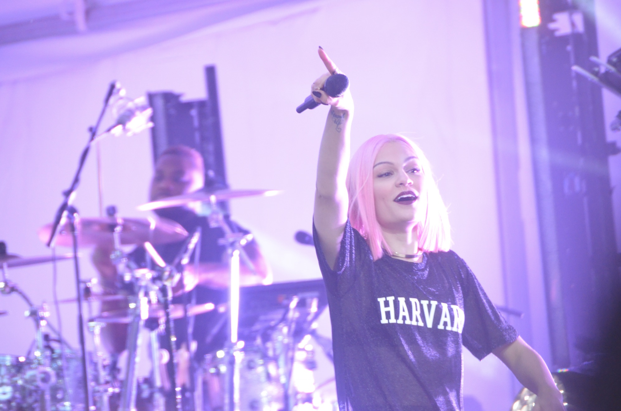 """Jessie J performs """"Nobody's Perfect"""" during Yardfest Friday evening."""