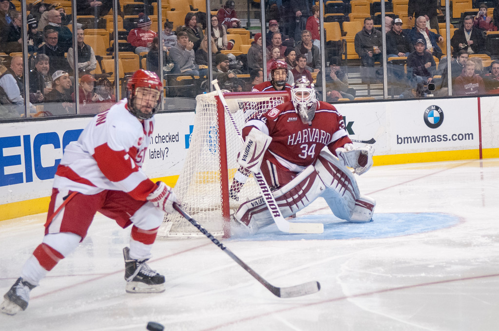 Steve Michalek stopped 63 shots that headed his way against Boston University in the opening round of the Beanpot, setting a Harvard and Beanpot record.