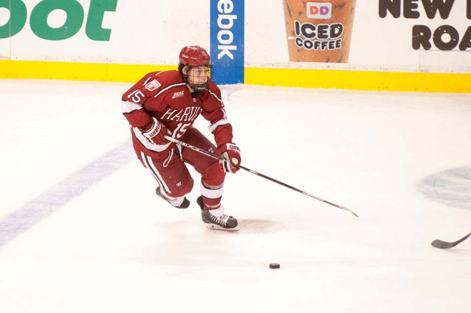 Freshman forward Seb Lloyd played in 34 of the Crimson's games this season, amassing seven points for the team.
