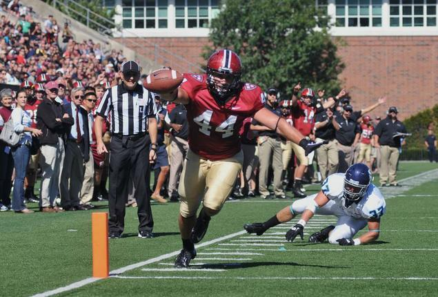 Former Crimson football player Kyle Juszczyk '13 has established himself in the NFL, playing fullback for the Baltimore Ravens.