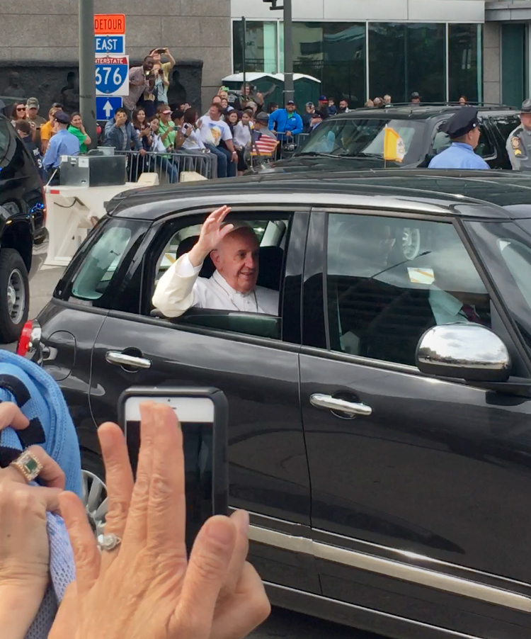 During Pope Francis's visit to the United States, a group of more than 50 undergraduates went to Philadelphia this past weekend to see the leader of the Catholic Church.