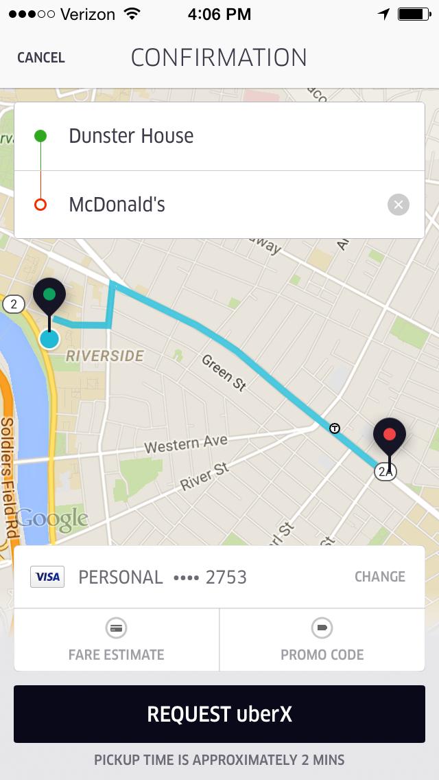 #UberMcDonalds