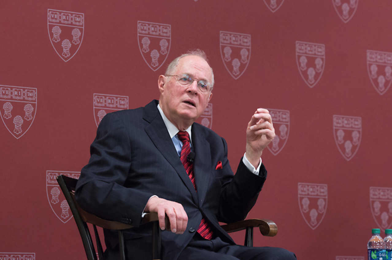 Justice Anthony Kennedy spoke at Harvard Law School this past Thursday.