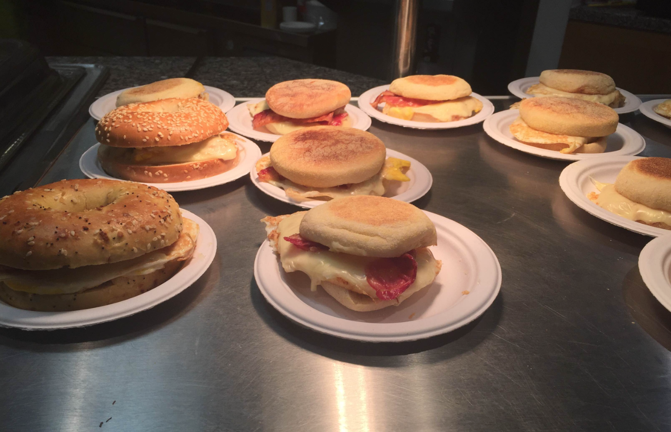 Breakfast Sandwiches at CGIS Cafe