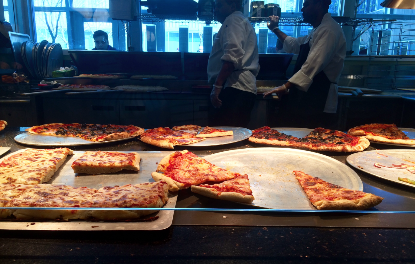 Eva's one true love, Greenhouse Cafe pizza.
