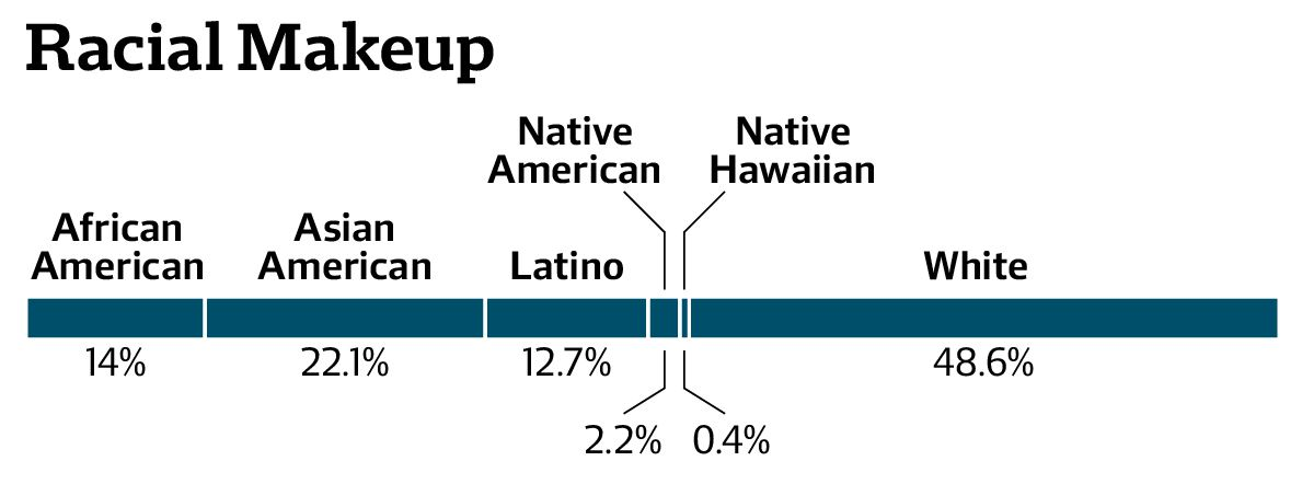 Admissions Numbers by Race