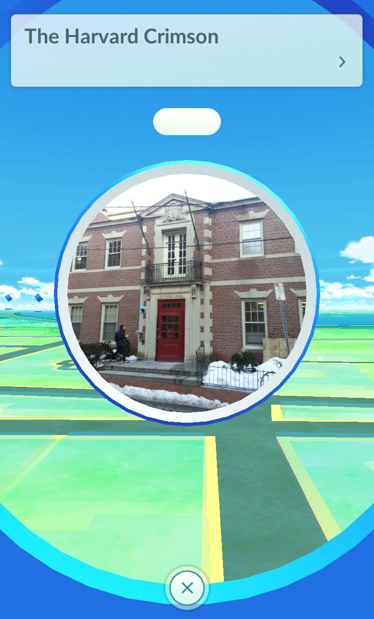 Pokéstop at The Harvard Crimson