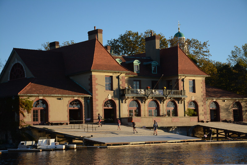 The Weld boathouse is home base for the Radcliffe rowing program.