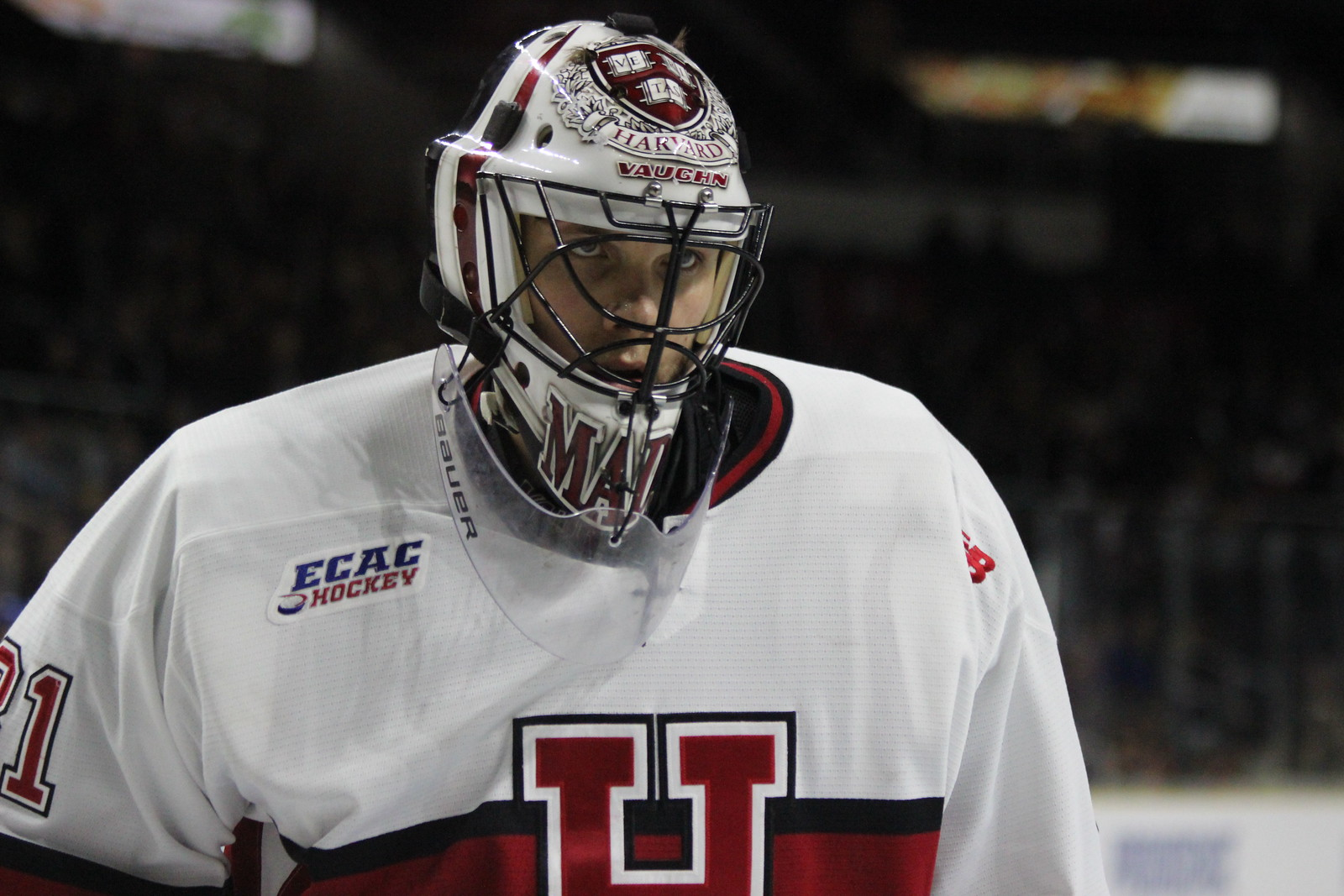 A year after having to fight for the starting job, junior goaltender Merrick Madsen has received the nod in all 35 of the Crimson's games this year. And he's won a program-record 28 of them.