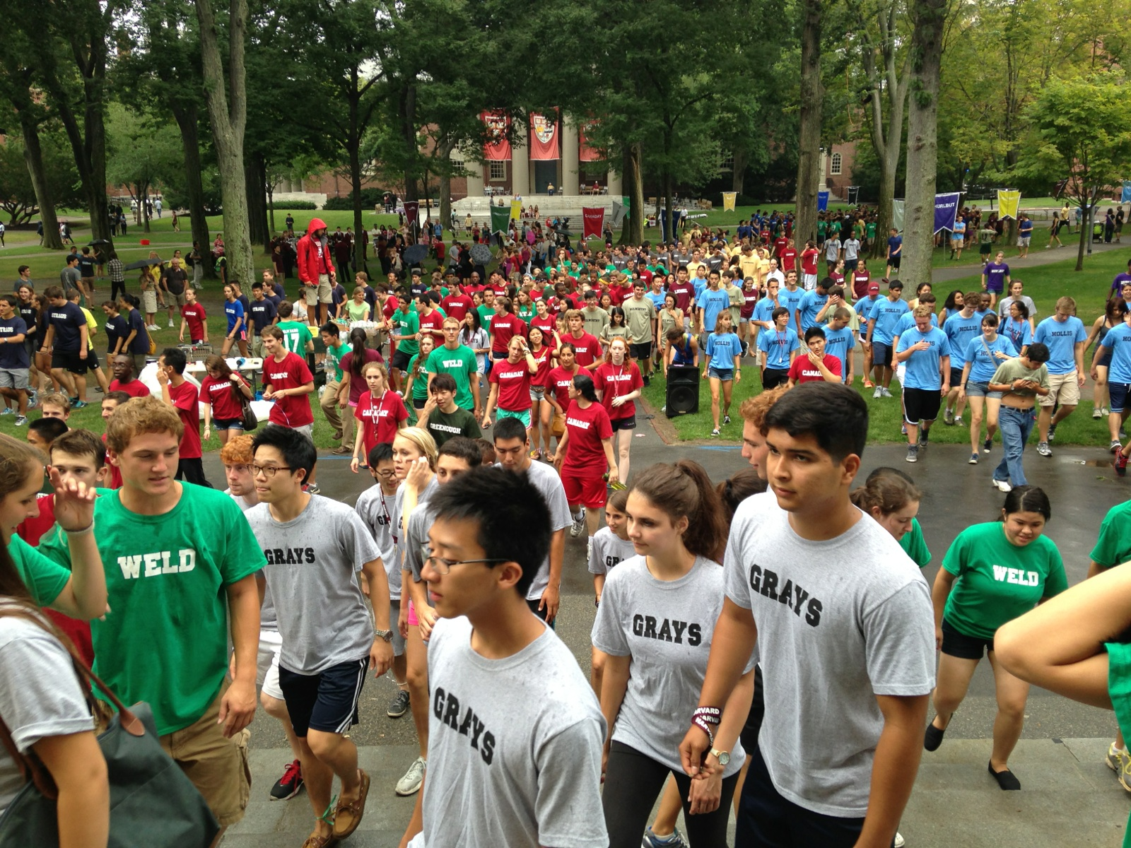Freshmen participate in a field day activity during Opening Days.