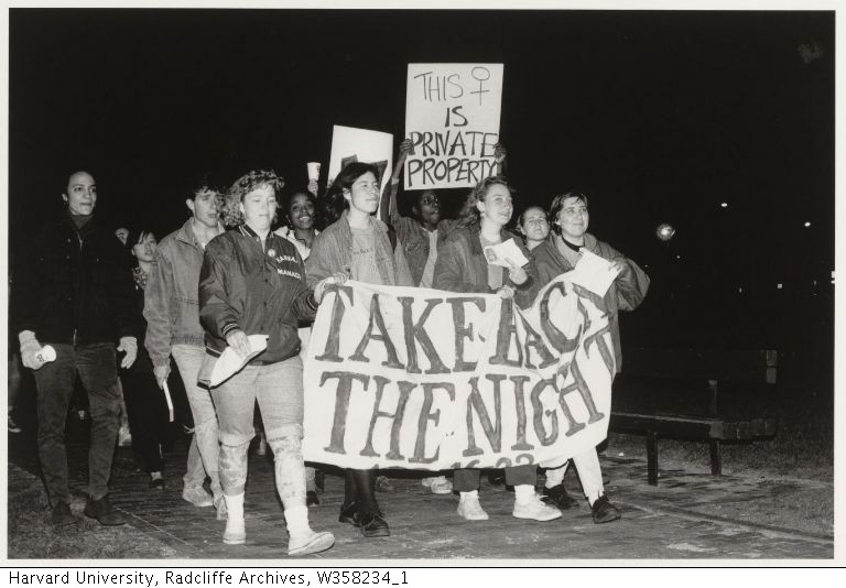 "In the evening of Saturday, November 8, 1980, about 70 women gathered carrying signs, chanting, ""Women unite, take back the night."" They were readying themselves to participate in Harvard's first annual Take Back the Night march, a rally that would become an annual tradition on campus."