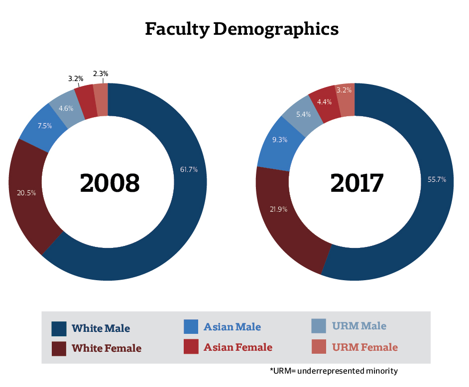 Faculty Demographics, 2008-17