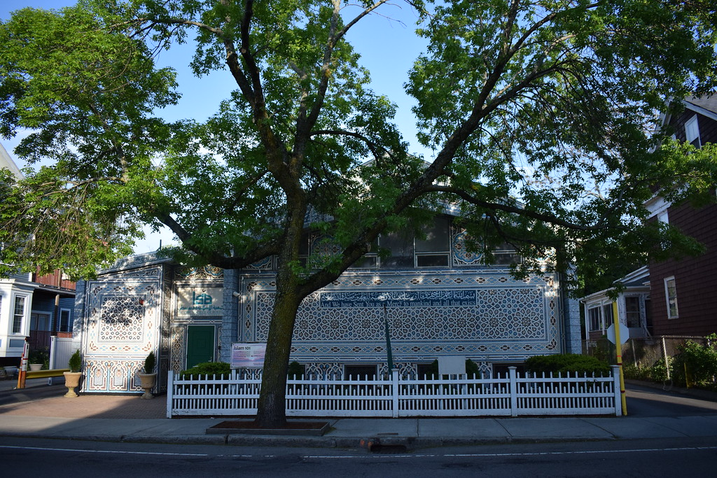 The headquarters of the Islamic Society of Boston is located on Prospect St. in Cambridge, near Harvard's campus.