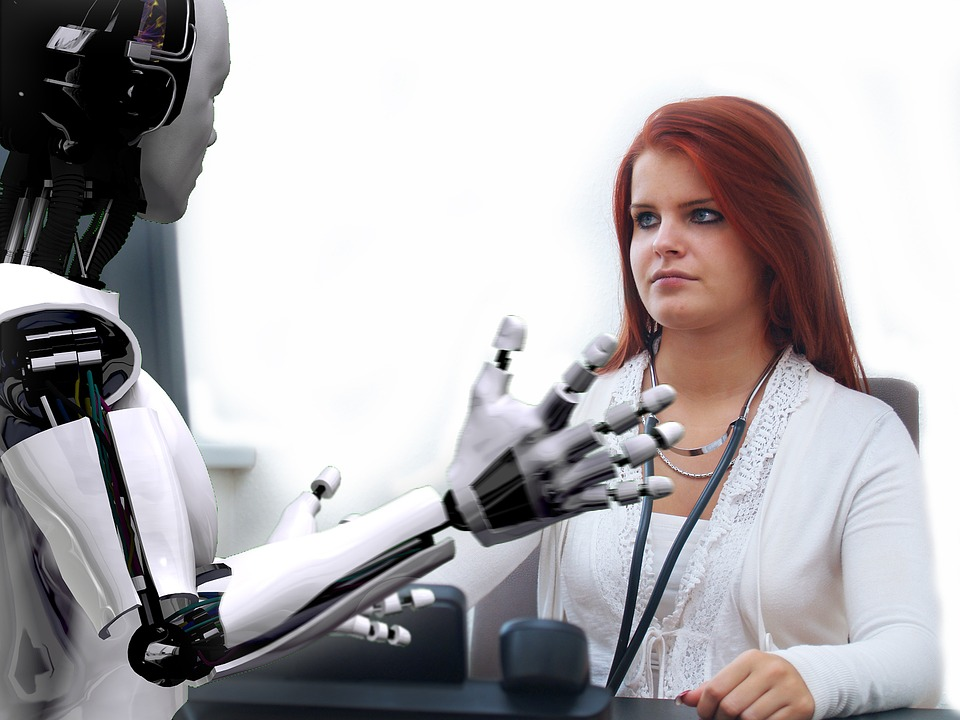 Robot! What are you doing? You can't take MY job!