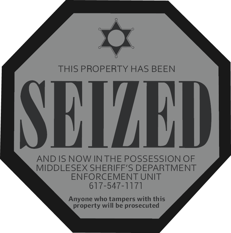Seized Sign