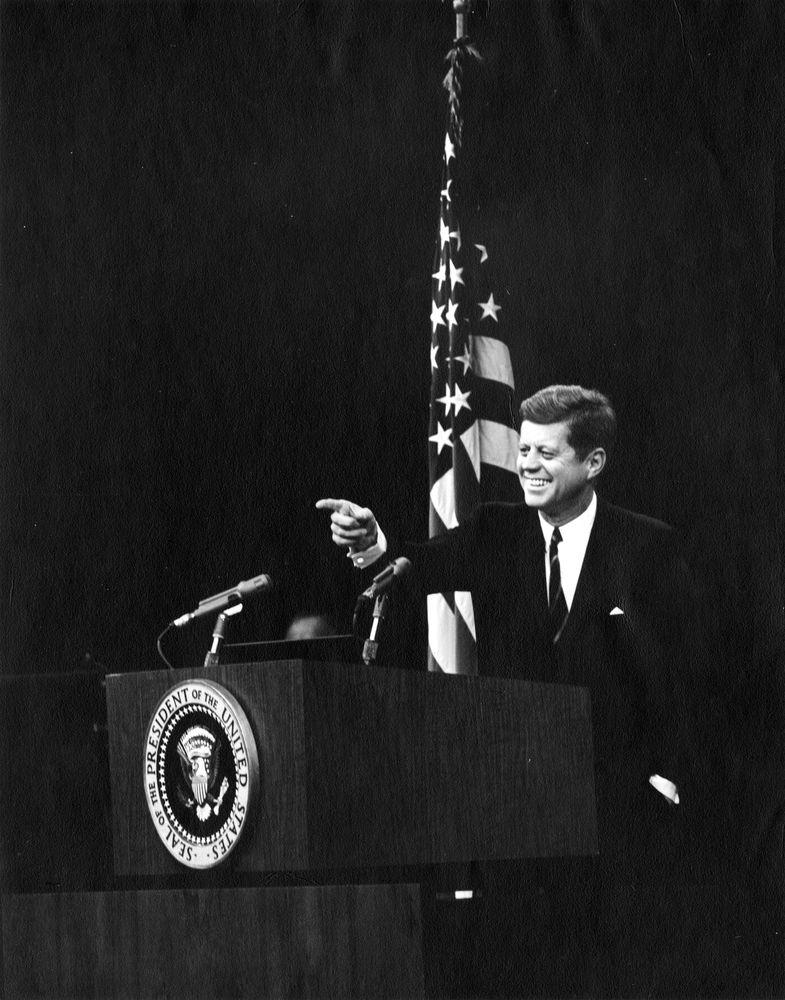 JFK at podium